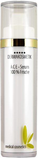 Dermakosmetik ACE-Serum im doppelw. klaren Airlessspender