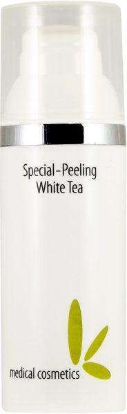 Special-Peeling White Tea 50ml im weißen Airlessspender mit Silberring