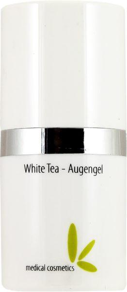 White Tea-Augengel 15ml im edlen weißen Airlessspender