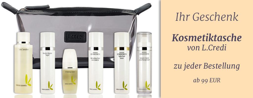 Gratis Kosmetiktasche ab 99 EUR