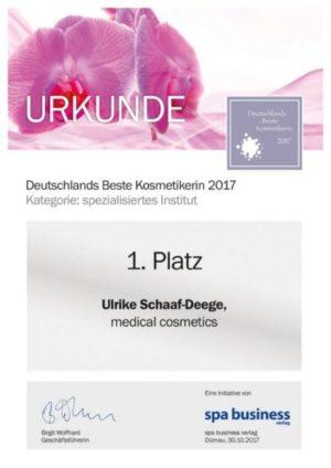 Deutschlands beste Kosmetikerin 2017